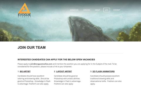 Screenshot of Signup Page evoguestudios.com - JOIN - Evogue Studios - captured Dec. 12, 2015