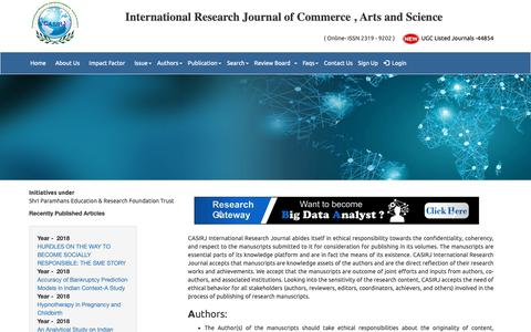 Screenshot of FAQ Page casirj.com - UGC Listed – Approved Journal – casirj.com : Faqs - captured Oct. 23, 2018
