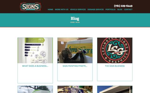 Screenshot of Blog lexsigns.com - Sign & Design News and Tips - Lexington Signs & Graphics - captured Oct. 4, 2017