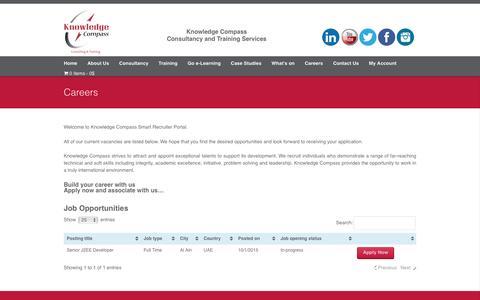 Screenshot of Jobs Page kc-inc.us - Careers - KC Corporate Website - captured Nov. 27, 2016
