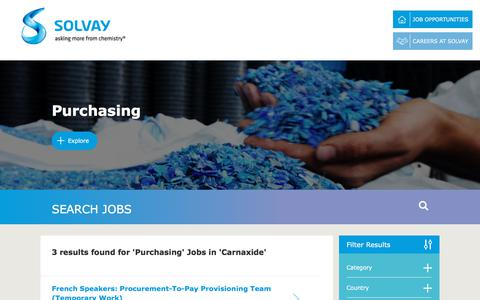 Screenshot of Jobs Page solvay.com - Purchasing Jobs in Carnaxide at Solvay   Careers at Solvay - captured Dec. 29, 2017