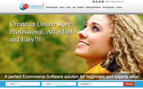 Screenshot of Products Page way2smile.com - Ecommerce Solution | Open Source E-Commerce Software | Top Ecommerce Solutions - captured March 3, 2016