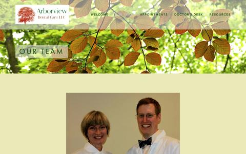 Screenshot of Team Page arborviewdentalcare.com - Our Team — Arborview Dental Care, LLC - captured Feb. 6, 2016