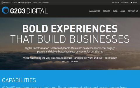 Screenshot of Home Page g2g3.digital - Home | G2G3.DIGITAL - captured Oct. 6, 2015