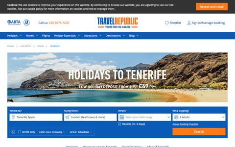 Cheap Holidays to Tenerife 2017/2018 | Travel Republic