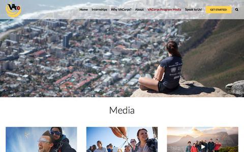 Screenshot of Press Page vacorps.com - VACorps Program Media — VACorps - captured Sept. 22, 2018