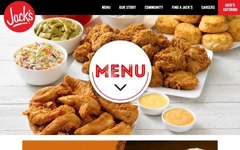 Screenshot of Menu Page eatatjacks.com - Menu | Jack's Family Restaurants  - Jack's Family Restaurants - captured Oct. 13, 2018