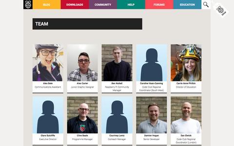 Screenshot of Team Page raspberrypi.org - Team - Raspberry Pi - captured June 24, 2016