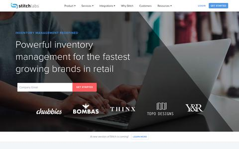 Screenshot of Home Page stitchlabs.com - Stitch Labs | Best Inventory Management Software - captured Jan. 23, 2018