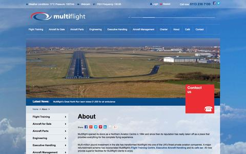 Screenshot of About Page multiflight.com - Private Aviation Company, Leeds, Yorkshire, UK | Multiflight - captured Oct. 10, 2014