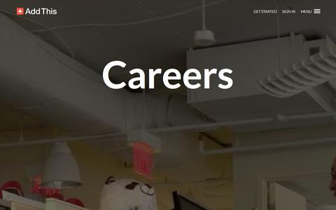 Screenshot of Jobs Page addthis.com - Careers | AddThis - captured Oct. 10, 2014