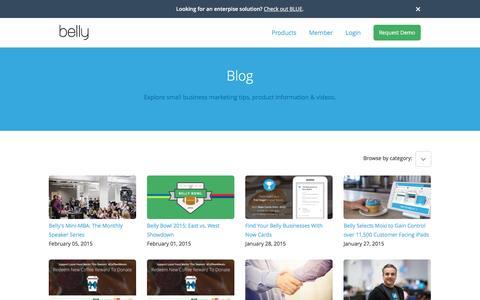 Screenshot of Blog bellycard.com - Business Customer Loyalty Program   Belly - captured April 30, 2017