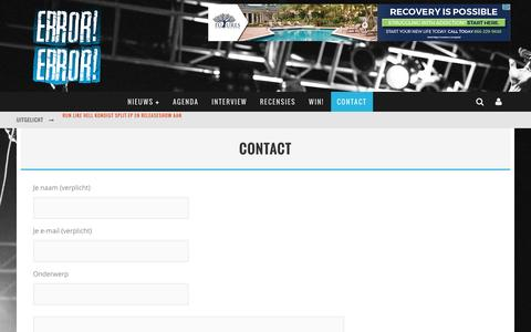 Screenshot of Contact Page error-error.com - Contact - ERROR! ERROR! - captured May 23, 2016