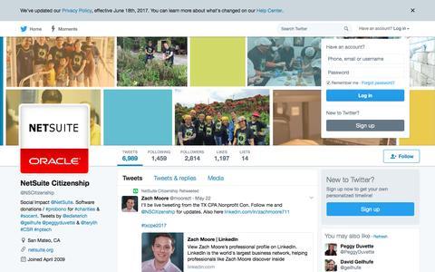 NetSuite Citizenship (@NSCitizenship) | Twitter