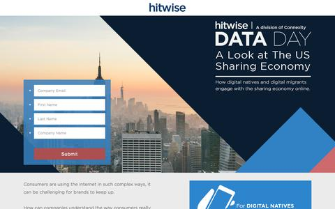 Screenshot of Landing Page connexity.com - Data Day: A Look at The US Sharing Economy - captured Sept. 19, 2018