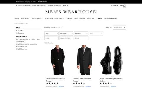 Men's Clothing Items on Sale Suits, Dress Shirts | Men's Wearhouse