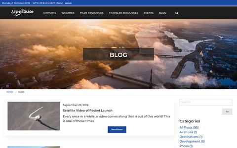 Screenshot of Blog airportguide.com - Airport Guide Blog - captured Oct. 1, 2018