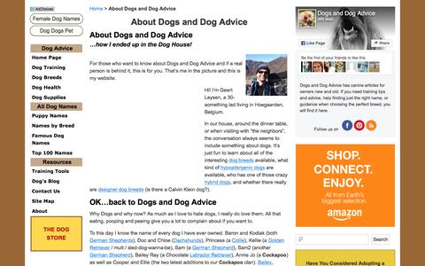 Screenshot of About Page dogs-and-dog-advice.com - About Dogs and Dog Advice - Dogs and Dog Advice - captured April 13, 2017