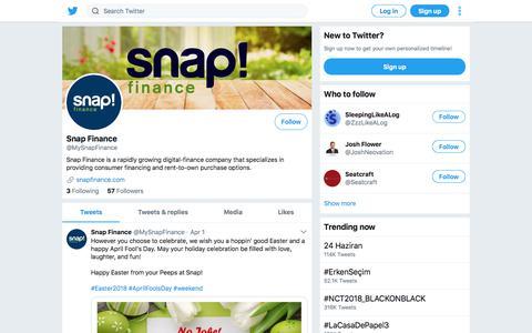 Tweets by Snap Finance (@MySnapFinance) – Twitter