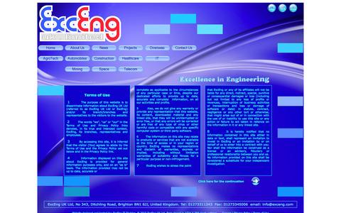 Screenshot of Terms Page exceng.com - ExcEng UK Ltd - captured Oct. 3, 2014