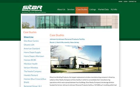 Screenshot of Case Studies Page sitarcompany.com - SilverLine – Sitar Realty Company - captured Oct. 27, 2017