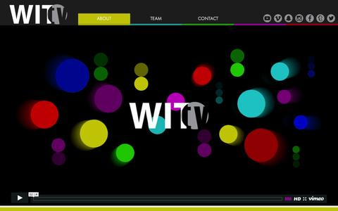 Screenshot of Home Page wit.tv - WIT.tv - digital-first studio and incubator for multi-platform content - captured Feb. 28, 2016