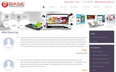 Screenshot of Testimonials Page 2basetechnologies.com - Testimonials - 2Base Technolgies Clients | 2Base Technologies - captured Aug. 13, 2015