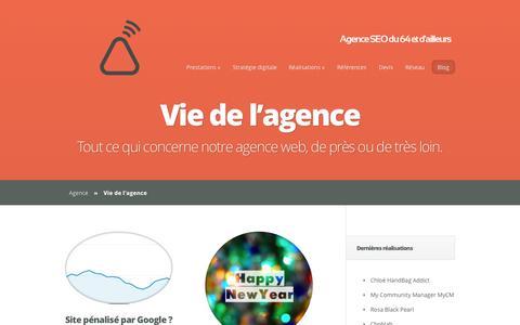 Screenshot of Blog agence-tipi.fr - Tout ce qui concerne notre agence web, de près ou de très loin. | Web, SEO et social media agency - captured Nov. 4, 2014