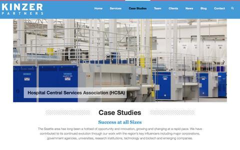 Screenshot of Case Studies Page kinzer.com - Experience | Kinzer Partners - captured Nov. 27, 2016