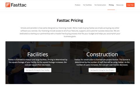 Screenshot of Pricing Page fasttac.com - Pricing | Fasttac - captured June 5, 2017