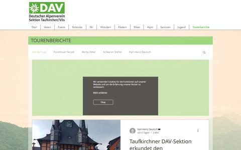 Screenshot of Blog dav-taufkirchen.de - davtaufkirchen   Tourenberichte - captured June 12, 2018