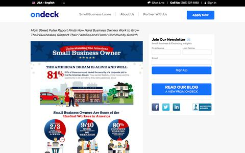 OnDeck Study Reveals How Small Business Owners Pursue the American Dream | OnDeck
