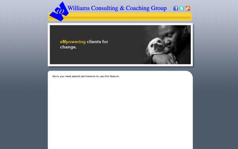 Screenshot of Services Page frankiewilliams.com - Williams Consulting and Coaching Group - Services - captured Nov. 5, 2014