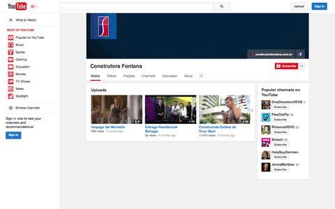 Screenshot of YouTube Page youtube.com - Construtora Fontana  - YouTube - captured Oct. 22, 2014