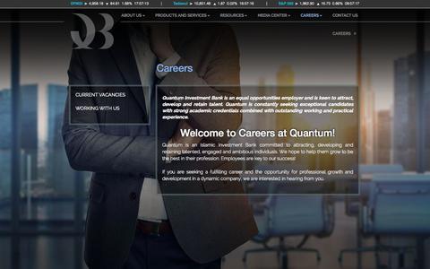 Screenshot of Jobs Page quantumib.com - Careers - Quantum Investment Bank - captured Oct. 3, 2014