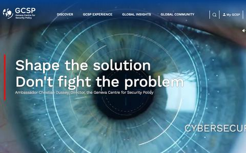Screenshot of Home Page gcsp.ch - Home page | GCSP - captured March 22, 2019