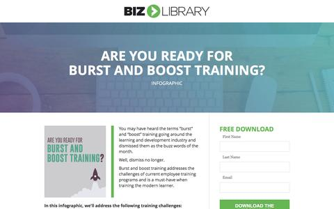 Screenshot of Landing Page bizlibrary.com - Burst and Boost Training: What You Need to Know [Infographic] - captured Dec. 30, 2016