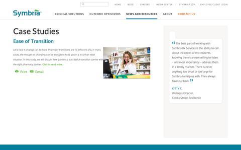 Screenshot of Case Studies Page symbria.com - Case Studies - Symbria - captured Oct. 19, 2018
