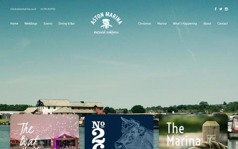 Screenshot of Home Page astonmarina.co.uk - Waterside Restaurant - Venue Hire - Moorings | Aston Marina - captured Oct. 4, 2018