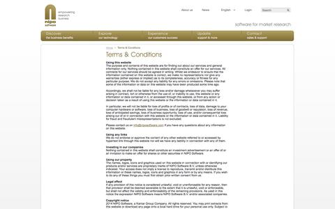Screenshot of Terms Page niposoftware.com - NIPO Software - Terms & Conditions - captured Oct. 8, 2014