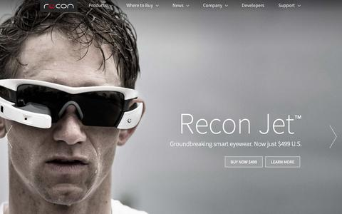 Screenshot of Home Page reconinstruments.com - Recon Instruments. The most powerful wearable computer. - captured Nov. 5, 2015