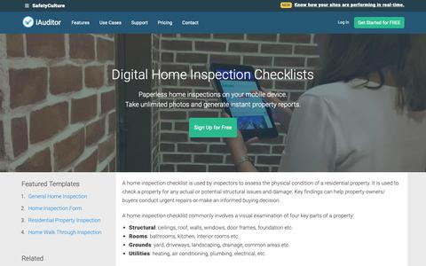 Screenshot of Pricing Page safetyculture.com - Home Inspection Checklists: Top 4 [Free Download] - captured April 23, 2019