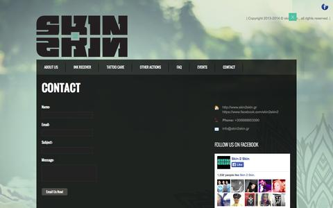Screenshot of Contact Page skin2skin.gr - CONTACT | Skin2Skin - captured Sept. 30, 2014