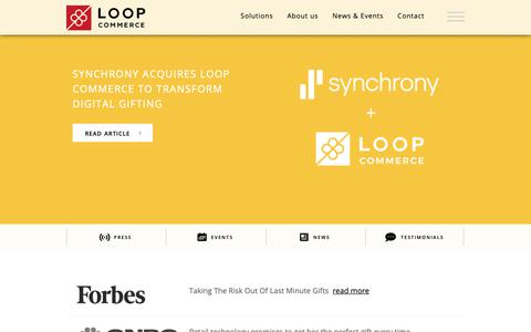 Screenshot of Press Page loopcommerce.com - Loop Commerce - News & Events - captured May 1, 2019