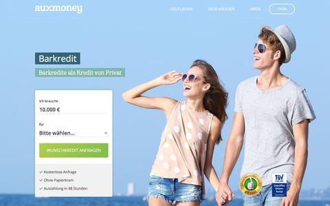 Barkredit: schnell Geld bekommen » AUXMONEY.com