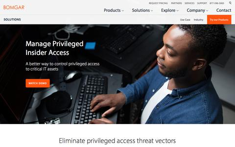 Prevent insider threats by securely managing privileged access | BOMGAR