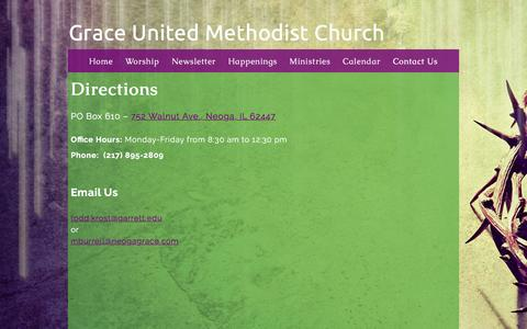 Screenshot of Contact Page neogagrace.com - Contact Us «  Grace United Methodist Church - captured Feb. 22, 2016
