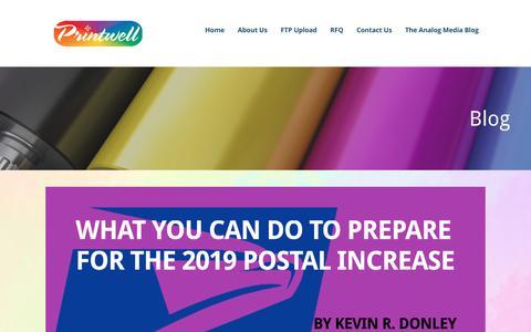 Screenshot of Blog printwell.com - Blog – Printwell - captured Nov. 11, 2018