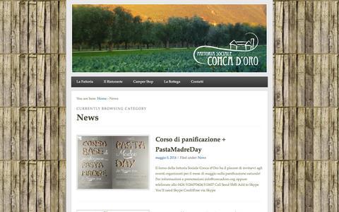 Screenshot of Press Page concadoro.org - News | Conca D'Oro - captured Oct. 5, 2014
