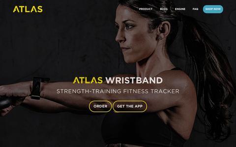 Screenshot of Home Page atlaswearables.com - Atlas Wearables | Atlas Wristband | Fitness Tracker - captured Nov. 18, 2015